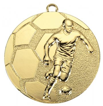 D61 50MM Embossed Football Medal & Ribbon ( Box Qty 300 ) from only £252.00 = £0.84 each